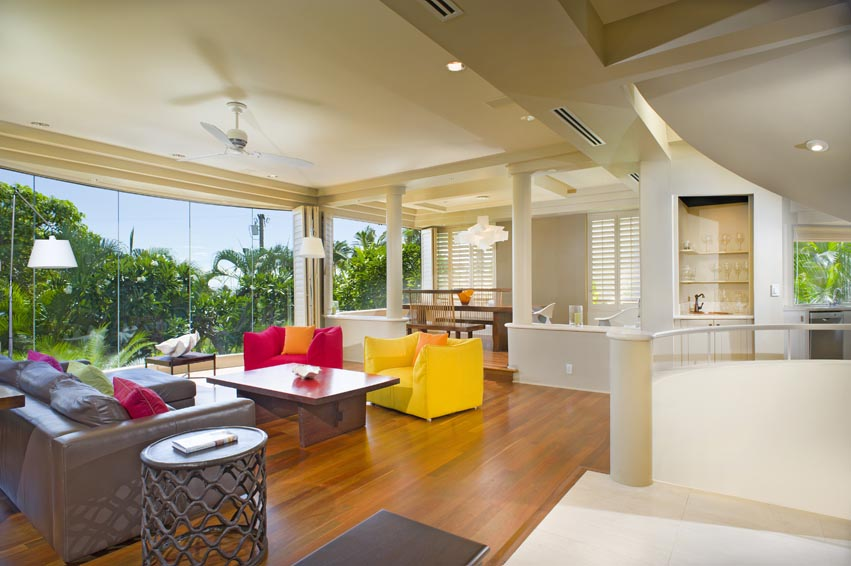 Huge Living Room in Diamond Head vacation rental